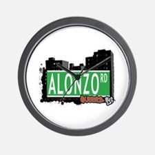 ALONZO ROAD, QUEENS, NYC Wall Clock