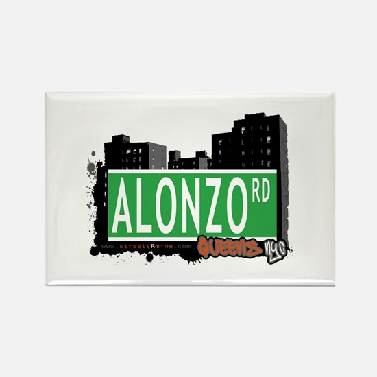 ALONZO ROAD, QUEENS, NYC Rectangle Magnet