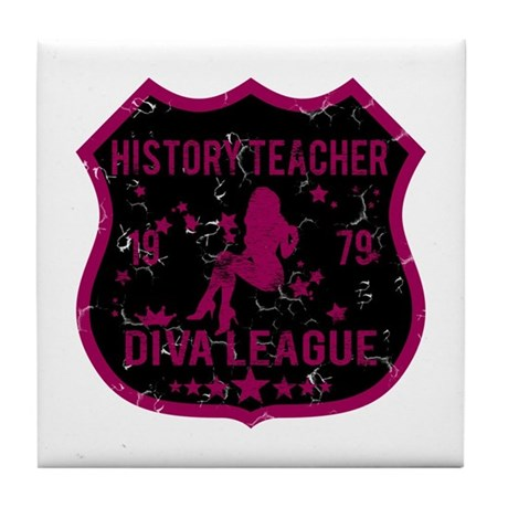 History Teacher Diva League Tile Coaster