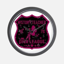 History Teacher Diva League Wall Clock