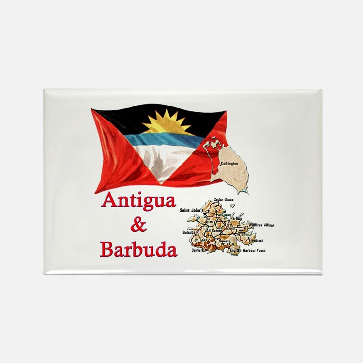 Antiga & Barbuda Rectangle Magnet