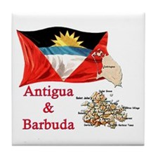 Antigua & Barbuda Tile Coaster