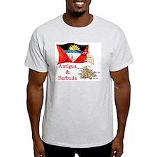 Antigua & Barbuda Ash Grey T-Shirt