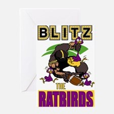 Blitz The Ratbirds Greeting Card