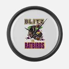 Blitz The Ratbirds Large Wall Clock