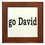 go David Framed Tile