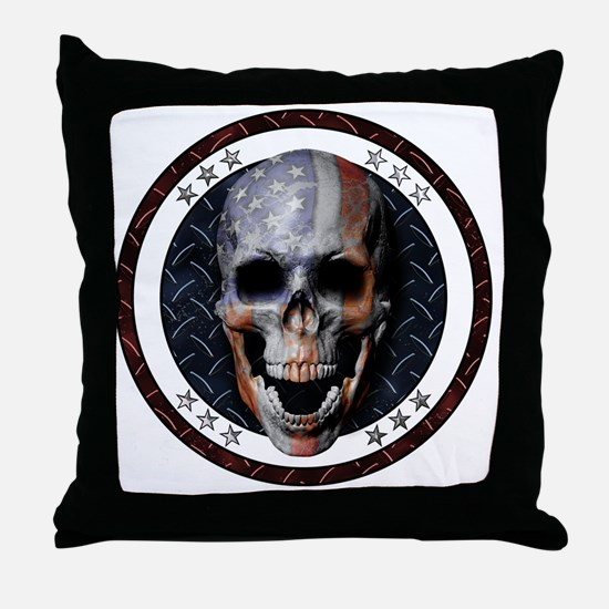 Unique Stars and skulls Throw Pillow