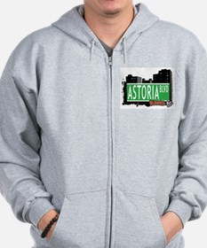 ASTORIA BOULEVARD, QUEEN, NYC Zip Hoodie