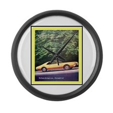 """""""1966 Toronado Ad"""" Large Wall Clock"""