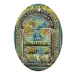 Jewish Prayer Book Hanukkah Oval Ornament
