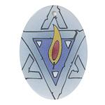 Star Of David and Flame Hanukkah Ornament
