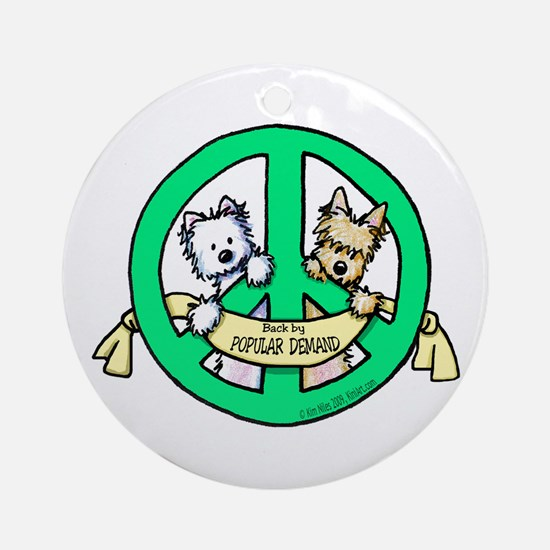 PEACE Terriers Ornament (Round)