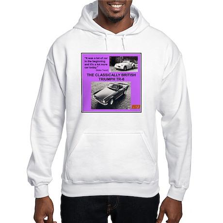"""1973 Triumph TR6 Ad"" Hooded Sweatshirt"