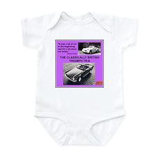 """""""1973 Triumph TR6 Ad"""" Infant Bodysuit"""