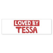 Loved by Tessa Bumper Car Sticker