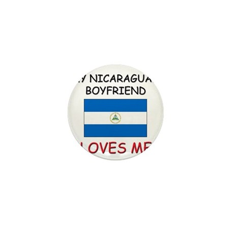 My Nicaraguan Boyfriend Loves Me Mini Button (10 p