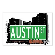 AUSTIN STREET, QUEENS, NYC Postcards (Package of 8
