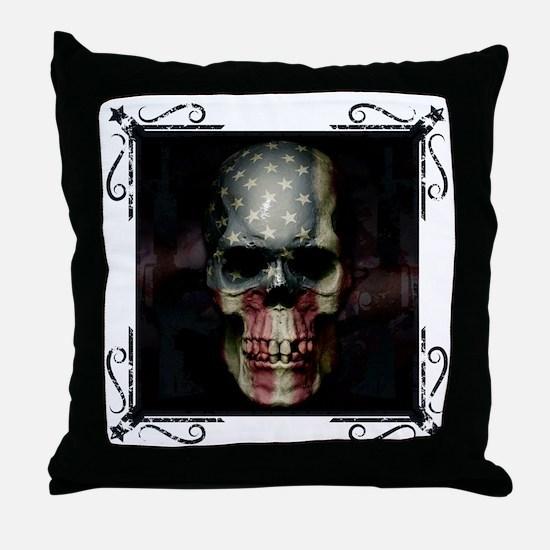 Cute Stars and skulls Throw Pillow
