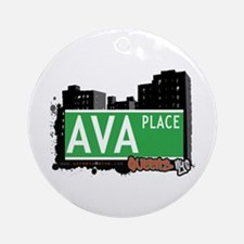AVA PLACE, QUEENS, NYC Ornament (Round)