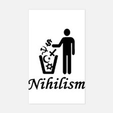 nihilism philosophy Rectangle Decal