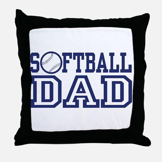 Softball Dad Throw Pillow