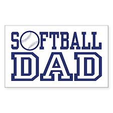 Softball Dad Rectangle Decal