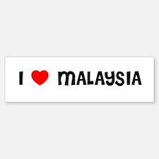 I LOVE MALAYSIA Bumper Bumper Bumper Sticker