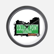 COLLEGE POINT BOULEVARD, QUEENS, NYC Wall Clock