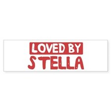Loved by Stella Bumper Bumper Sticker