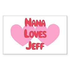 Nana Loves Jeff Rectangle Decal