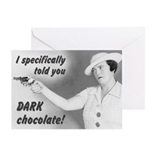 Dark Chocolate Valentine Greeting Card