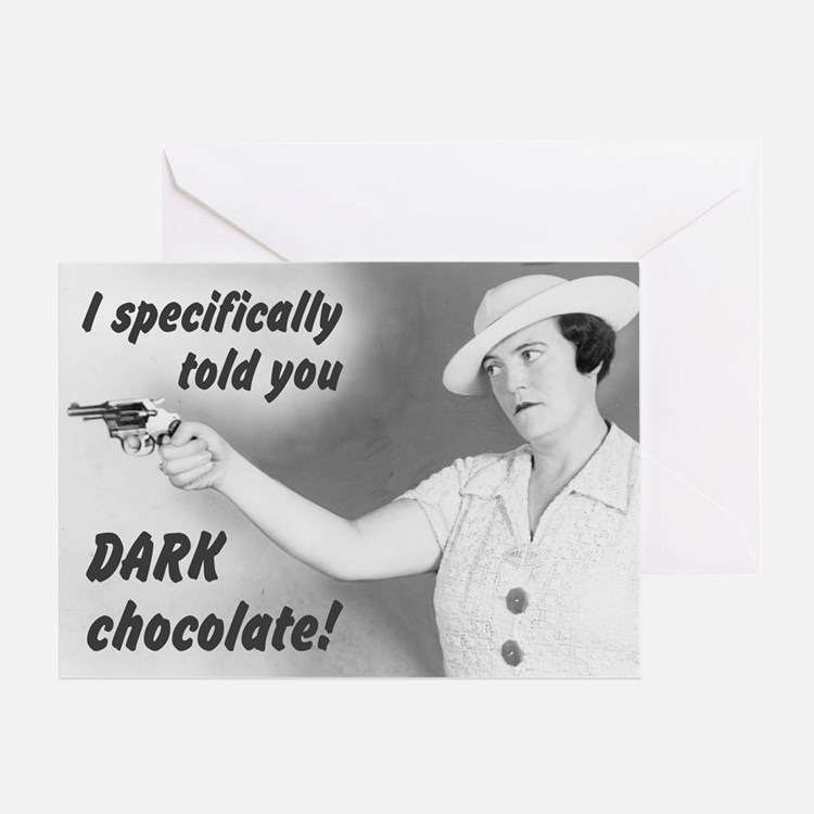 Dark Chocolate Valentine Greeting Card