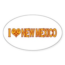 I Love New Mexico Oval Sticker