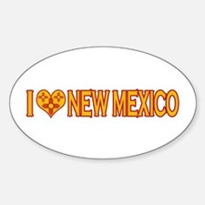 I Love New Mexico Oval Decal