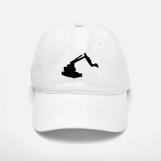 Black Construction Digger Baseball Baseball Cap