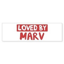 Loved by Marv Bumper Bumper Stickers