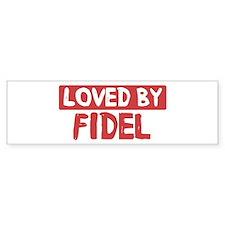 Loved by Fidel Bumper Bumper Sticker
