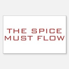 The Spice Must Flow Rectangle Decal