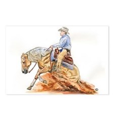 Reining horse Postcards (Package of 8)