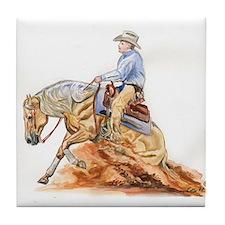 Reining horse Tile Coaster