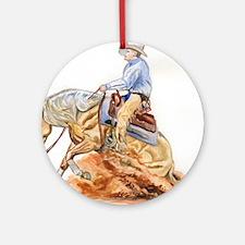 Reining horse Ornament (Round)