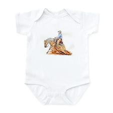 Reining horse Infant Bodysuit