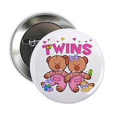 Twins - Girl Bears Button
