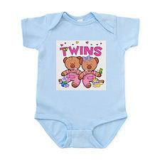 Twins - Girl Bears Infant Creeper