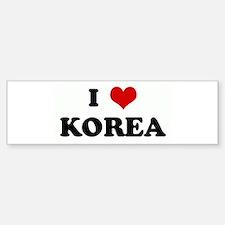 I Love KOREA Bumper Bumper Bumper Sticker