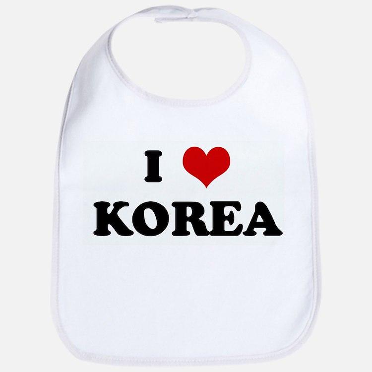 I Love KOREA Bib