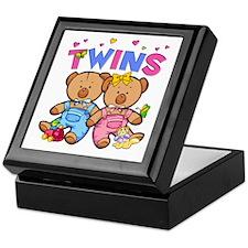 Twins - Boy & Girl Bears Keepsake Box