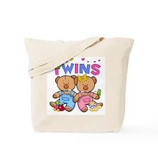 Twins - Boy & Girl Bears Tote Bag