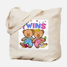 Twins - Boy & Girl Bears Tote Bag