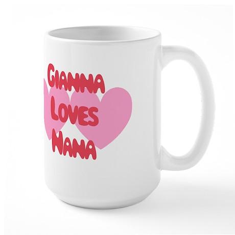 Gianna Loves Nana Large Mug